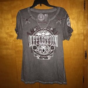 Like new Affliction tee women's Sz XL
